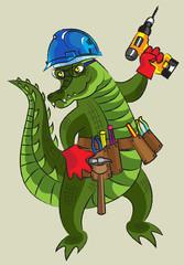 Happy crocodile - builder
