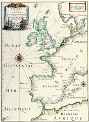 Map of Europe 1641