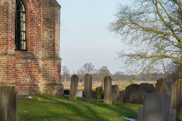 Cemetary at an old dutch Church
