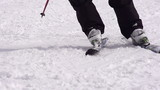 Ski Trail. Slow Motion at a rate of 480 fps