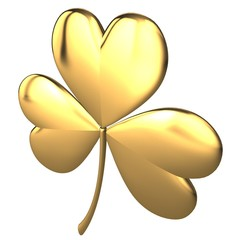 Saint Patrick's Day 3d golden clover sign
