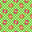 Gingham cloth with easter eggs, seamless pattern included