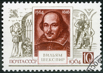USSR - 1964: shows  William Shakespeare (1564-1616)