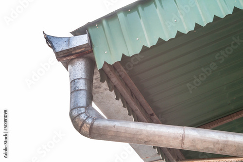 House roof gutter