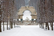 Vienna - Ruins in gardens of Schonbrunn palace in winter.