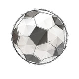 Football, soccer game ball isolated on a white background