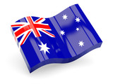 3d flag of Australia isolated on white