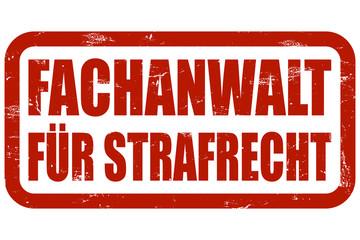 Grunge Stempel rot FACHNANWALT FÜR STRAFRECHT