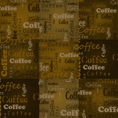 coffee squares with text