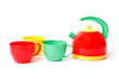 teapot and three cups