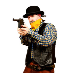 Wild west bank robbery