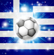 Greek soccer flag