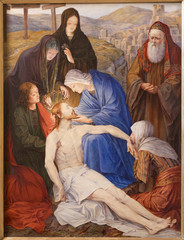 Gent - Pieta. Paint in st. Peter s church