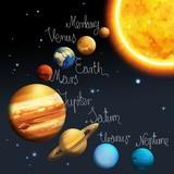 Fototapety The solar system - milky way - astronomy for kids