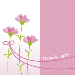 Flowers with Thank you Message