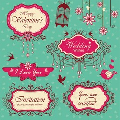 Vintage frames design elements