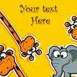 Поздравительная открытка с мультфильм животных