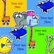 Поздравительные открытки с мультяшными животными