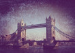 tower bridge on textured background