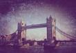 tower bridge on textured background