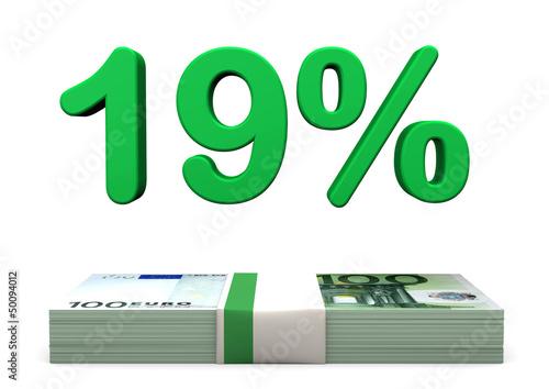 19 Prozent Euro