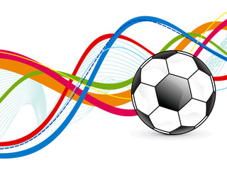 abstract colorful football background