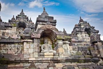 Detail of Borobudur temple near Yogyakarta, Indonesia.