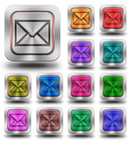 Aluminum E-mail glossy icons, crazy colors