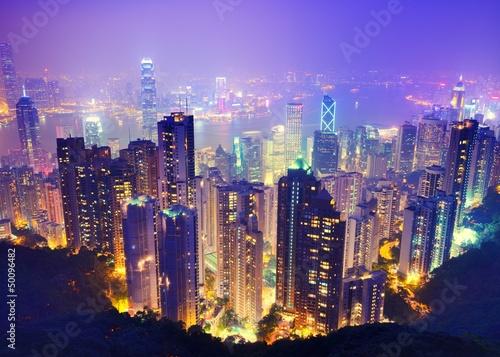 Poster Hong Kong at Night
