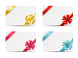 Set of vector gift cards