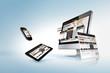 Leinwanddruck Bild - Web design concept