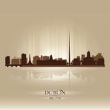 Dublin Ireland skyline city silhouette