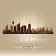 Sydney Australia skyline city silhouette