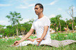 In lotus position