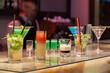 Barman serving cocktails