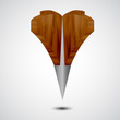 wooden  Grey Map Pointer Icon.