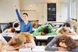 Schlafende Studenten und wacher Schüler