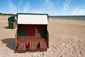 breiter Strandkorb