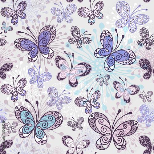 Spring seamless pattern