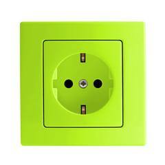 Steckdose grün
