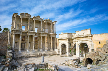 Library of Celsus in Ephesus ancient city, Selcuk, Turkey
