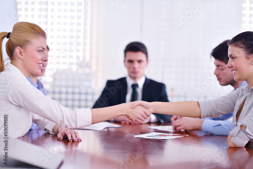business people making a deal at meeting
