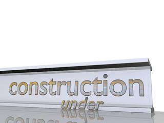 under construction_Bau, Aufbau, Erstellung - 3D
