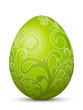 Osterei, Ostern, Ei, Hühnerei, Floral, Foliage, Grün, Dekoration