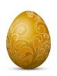 Osterei, Ostern, Ei, Hühnerei, Floral, Foliage, Braun, Ocker, 3D