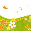 Frühling, abstrakt, Hintergrund, Blumen, Schmetterlinge, Bunt