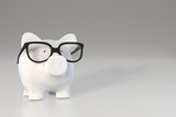 Piggy bank - glasses