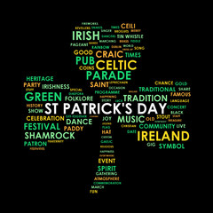 PATRICK'S DAY Tag Cloud (ireland shamrock parade 17th march)