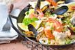 Paella in der Servierpfanne
