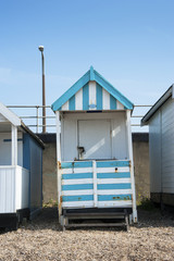 Colorful Beach Hut at Southend on Sea, Essex, UK.
